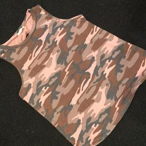 Cute camouflage tank top